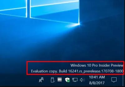 Comment enlever le watermark des builds de Windows 10 et Windows 11
