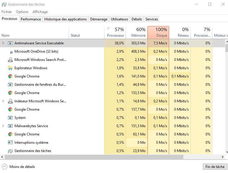 7 astuces pour résoudre l'utilisation du disque à 100% sous Windows 10