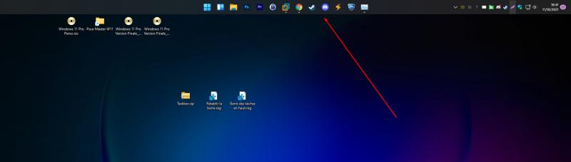 Positionner la barre des tâches Windows 11 en haut de l'écran
